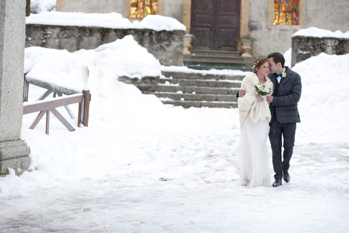 Real winter wedding in the French Alps