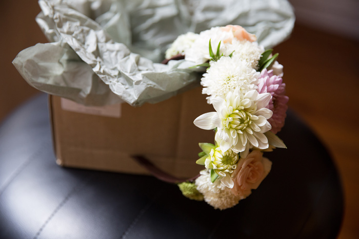 Wedding floral hairband