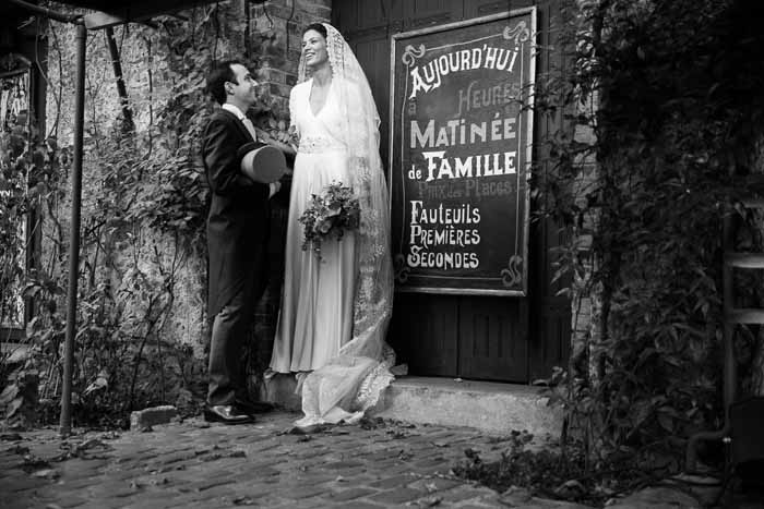 Parisian retro wedding