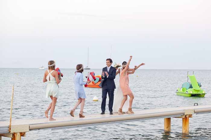 Saint Tropez beach wedding
