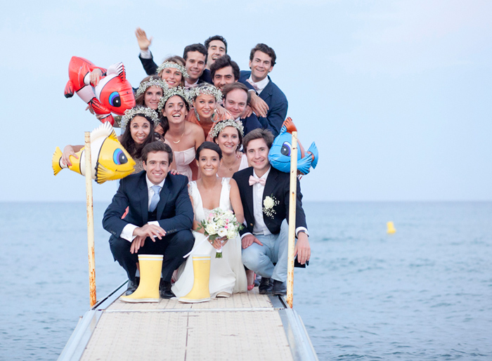 French beach wedding in St Tropez