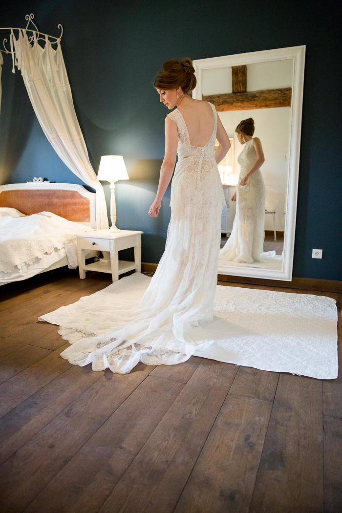 Celestina Agostino bridal gown