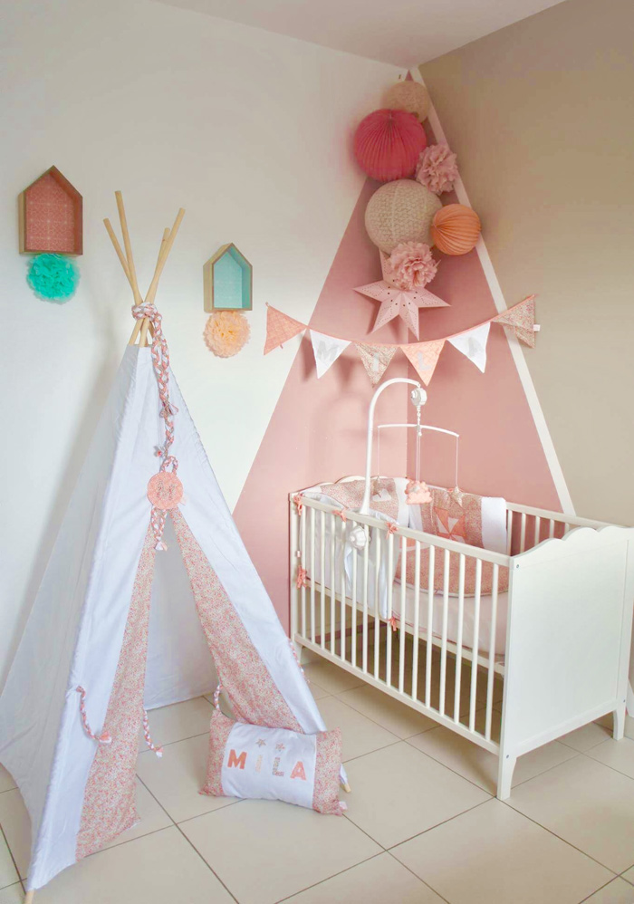 Agreable Decoration Pastel Chambre Bebe