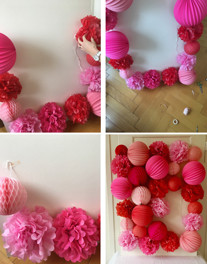 how to make a paper lanterns wall for party decor