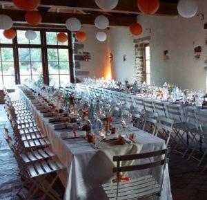 ciel déco table mariage blanc rouge