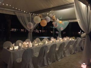 décor table fête lanterne lampion