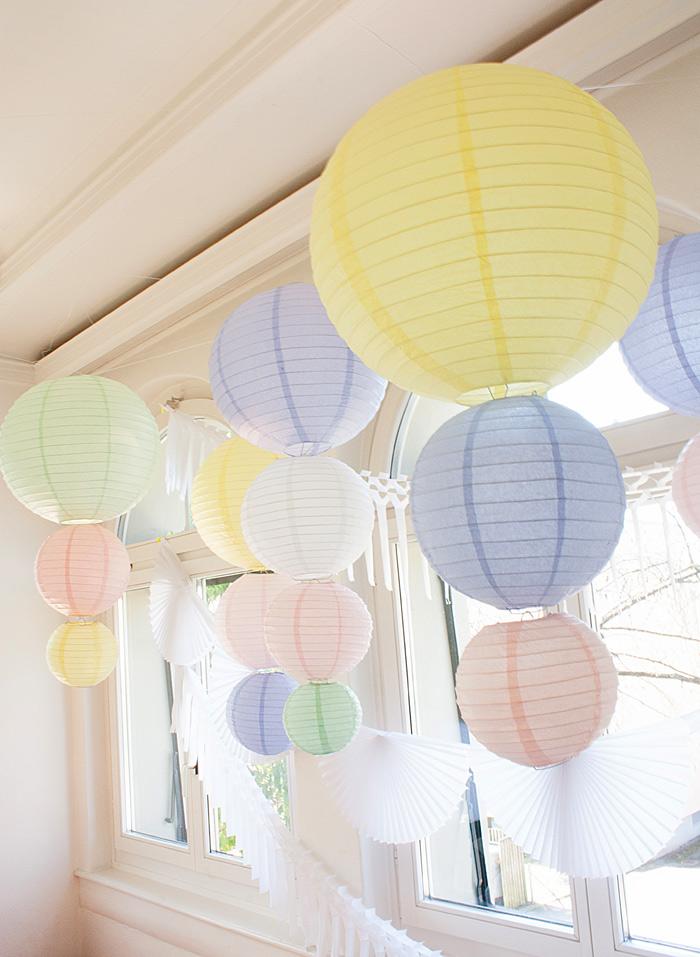 Lanternes en papier - Paper lanterns decor