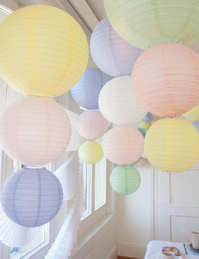 pastel paper lanterns