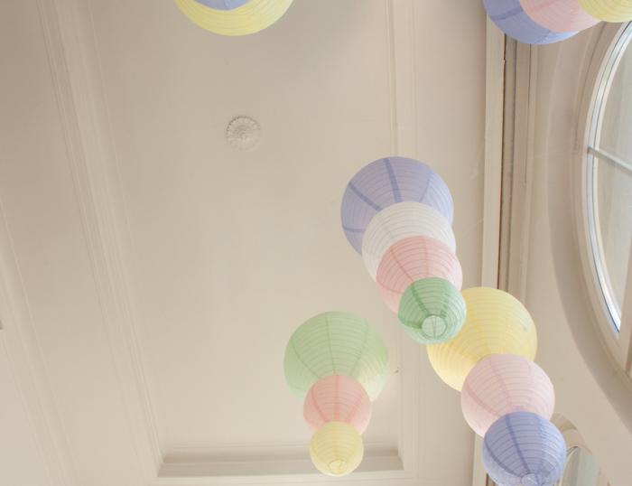 lampions pastel - pastel paper lanterns