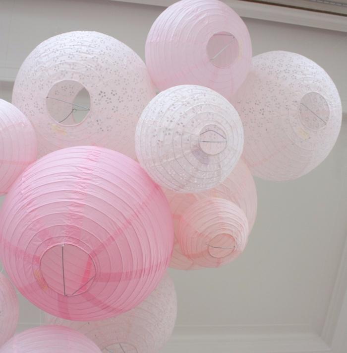 ciel de lanternes mariage rose pastel