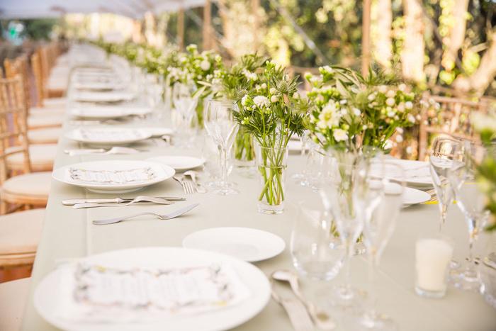 décoration table de mariage en Provence
