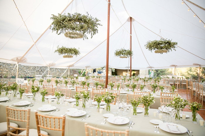 décoration tente bambou mariage