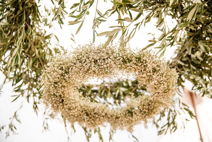 décoration de mariage gypsophile
