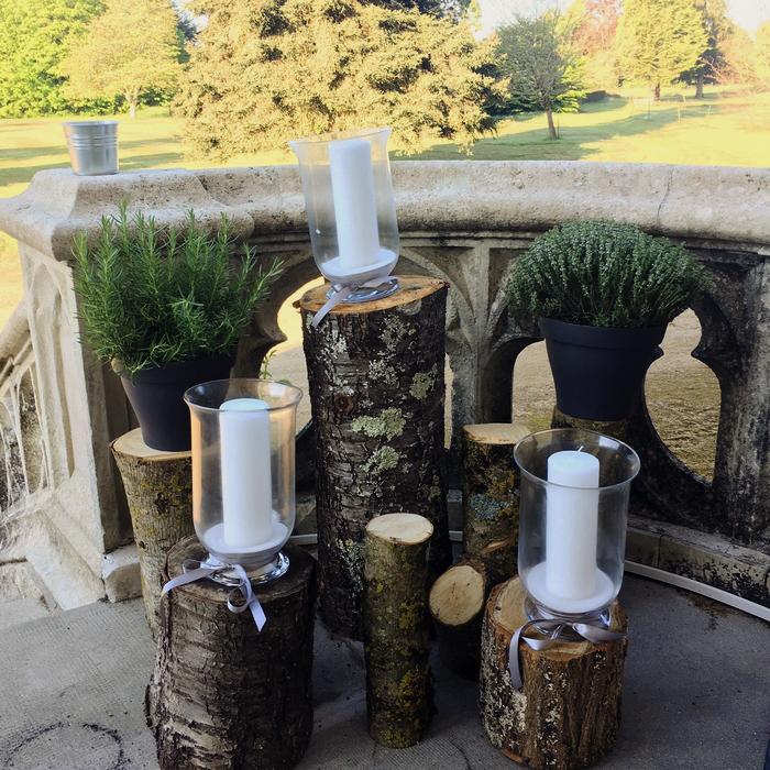 déco baptême nature vegetal jardin arbre bougie