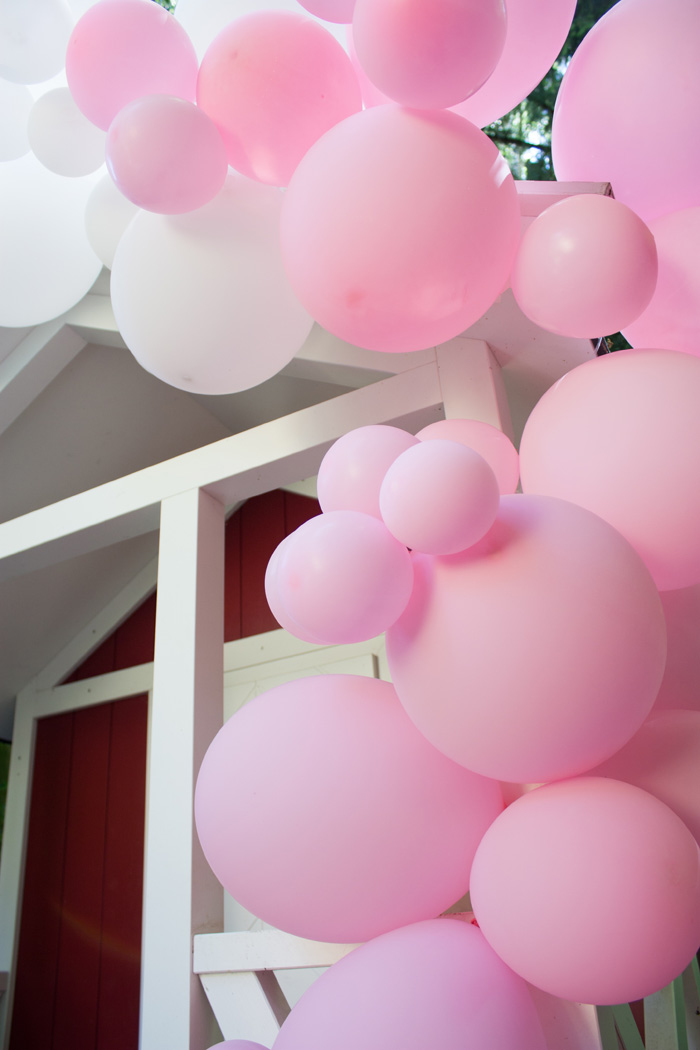 kit Guirlande ballons rose déco fille maison jardin