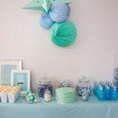 Une baby shower en bleu