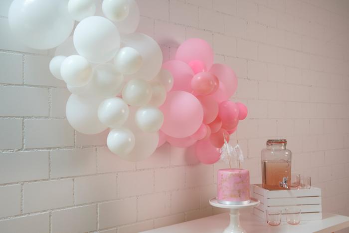 Kit guirlande de ballons rose pink fête anniversaire