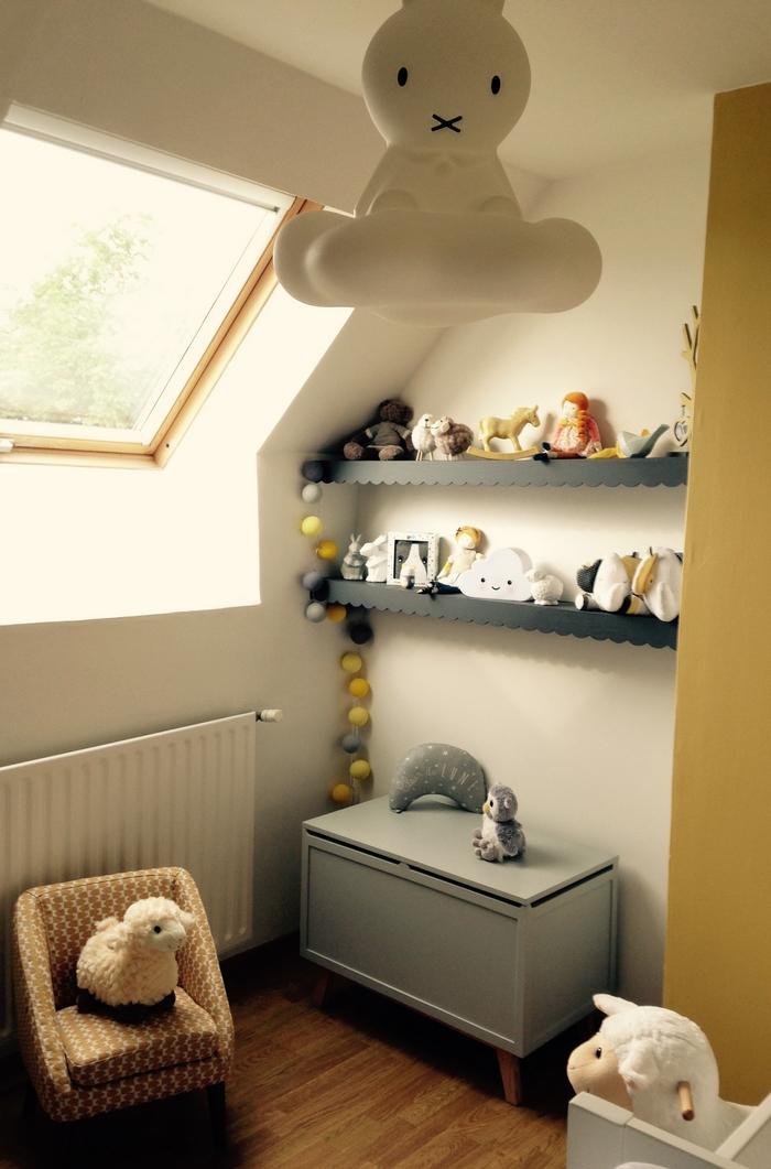 Idées déco chambre gris jaune miffy