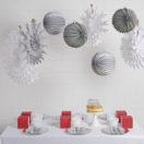 Un Noël blanc, gris et argenté