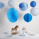 Un décor de fête en bleu