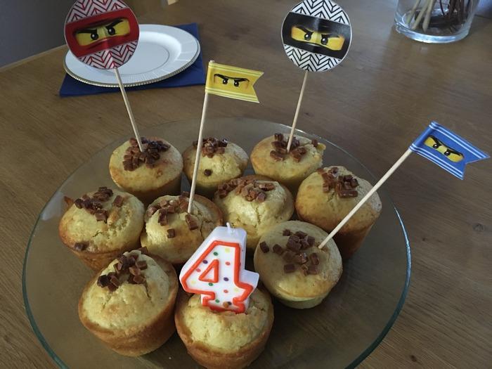 Anniversaire ninjago Décoration table anniversaire garçon ninja