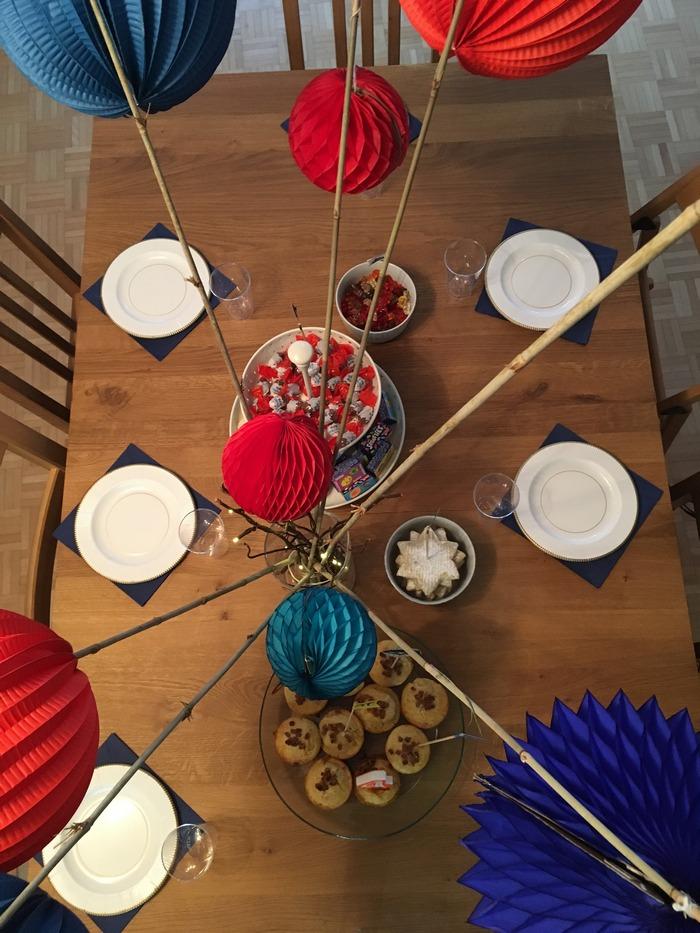 Anniversaire Ninjago : Décoration table anniversaire garçon boule papier héros ninja