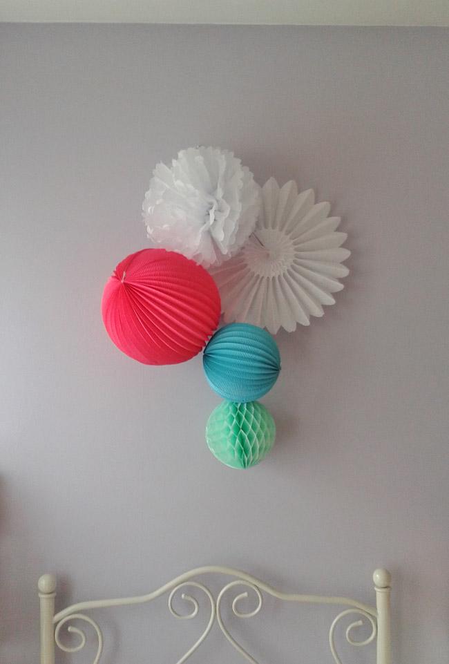 tête de lit colorée pour une chambre d'enfant ou d'adolescent