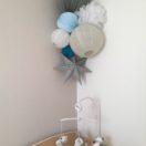 Bleu et gris pour une chambre de garçon