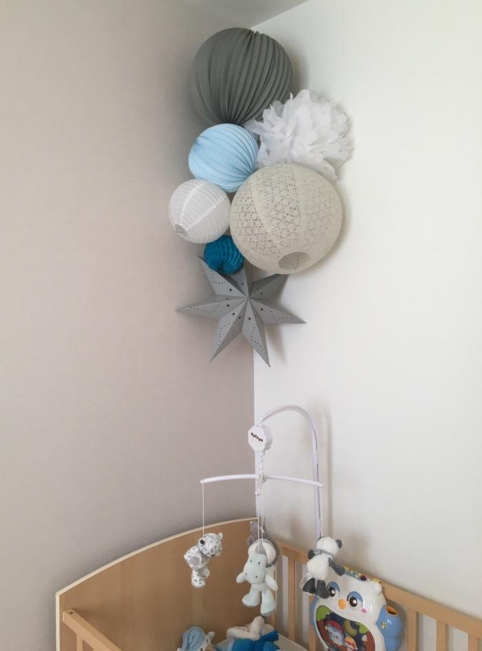 Bleu et Gris : idée déco pour une chambre de garçon