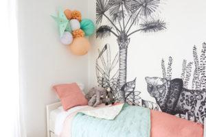 décoration pêche et mint pour une chambre