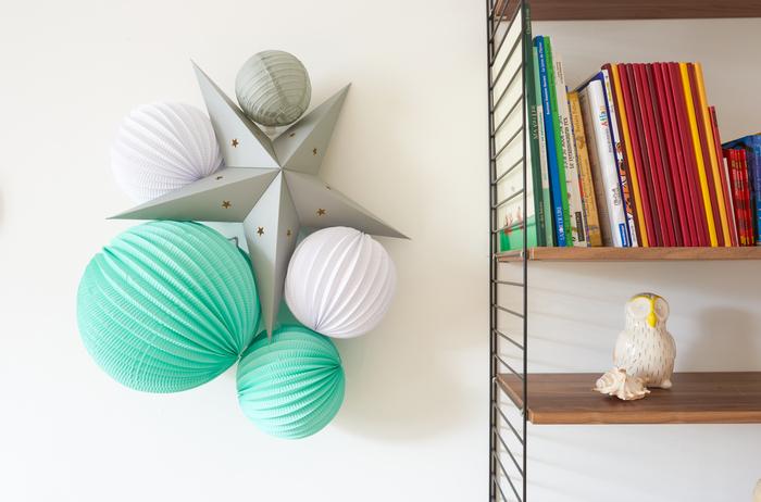 décoration mint et gris pour une chambre de petit garçon