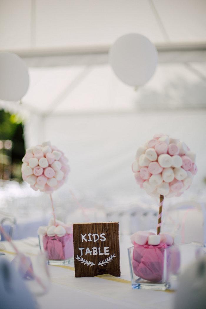 Baptême rose pastel pour petite fille, candy bar