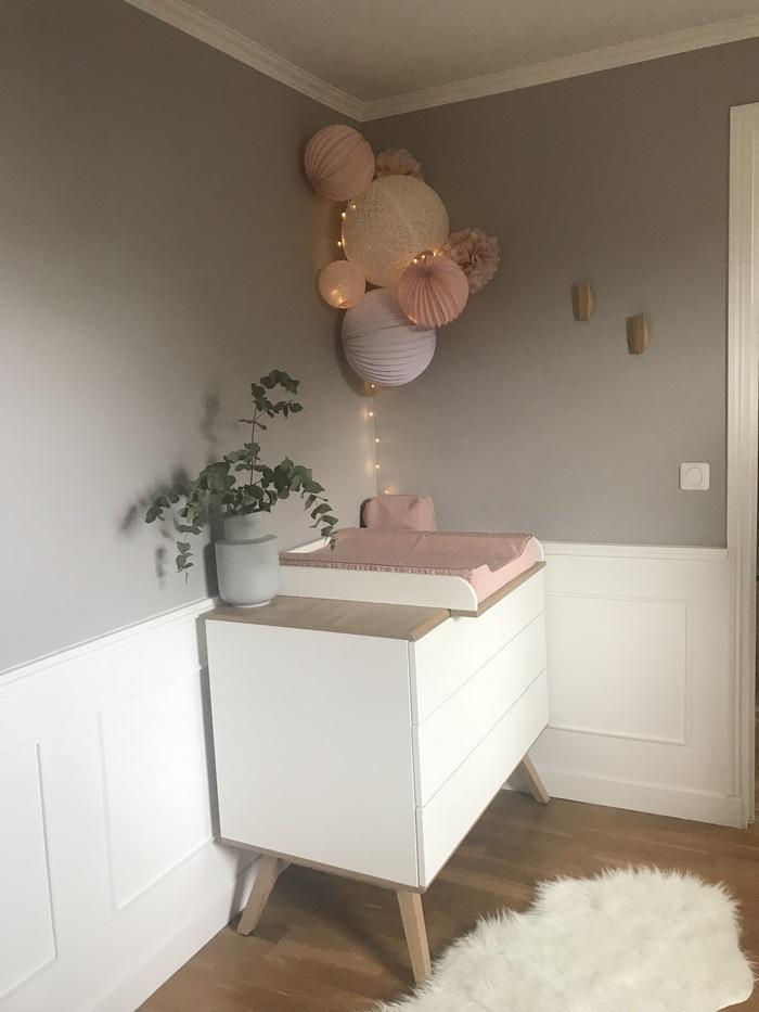 Chambre rose pastel et blanche idées déco fille