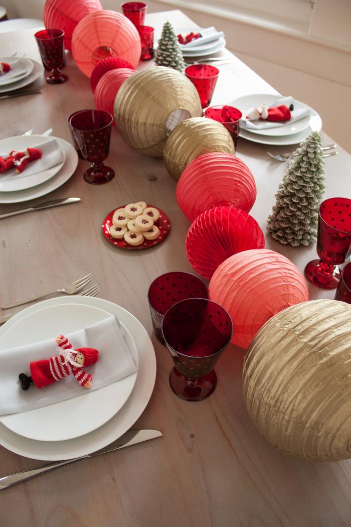 Noël en rouge tendance 2018 avec des idées de décorations pour la maison