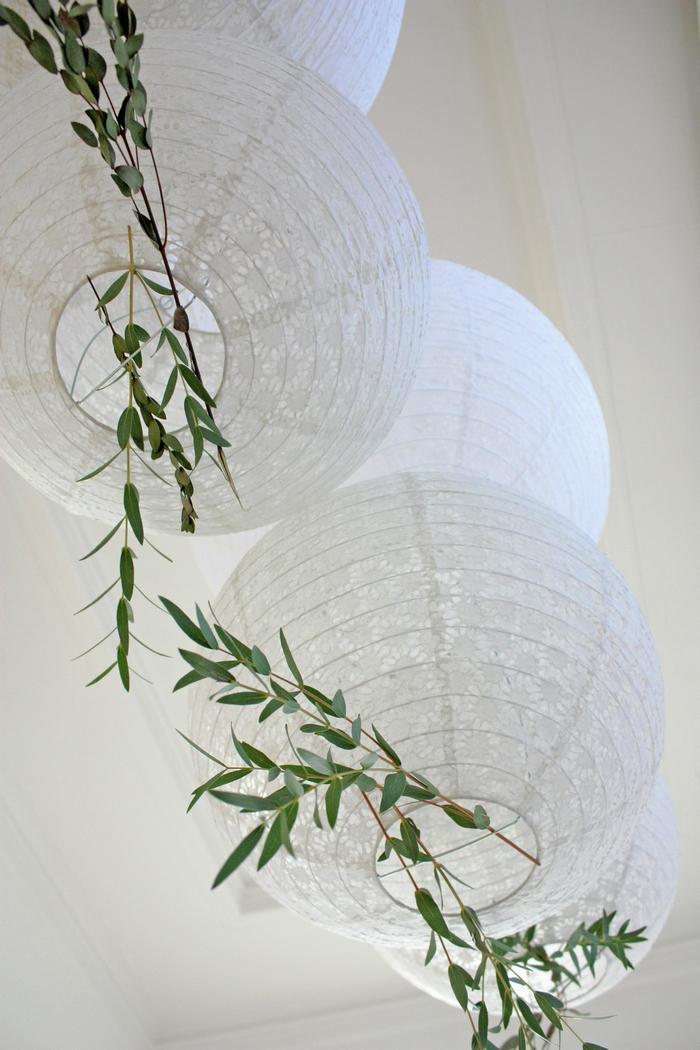 """Noël """"green"""" : inspirations 2018 avec des lanternes ajourées blanches"""