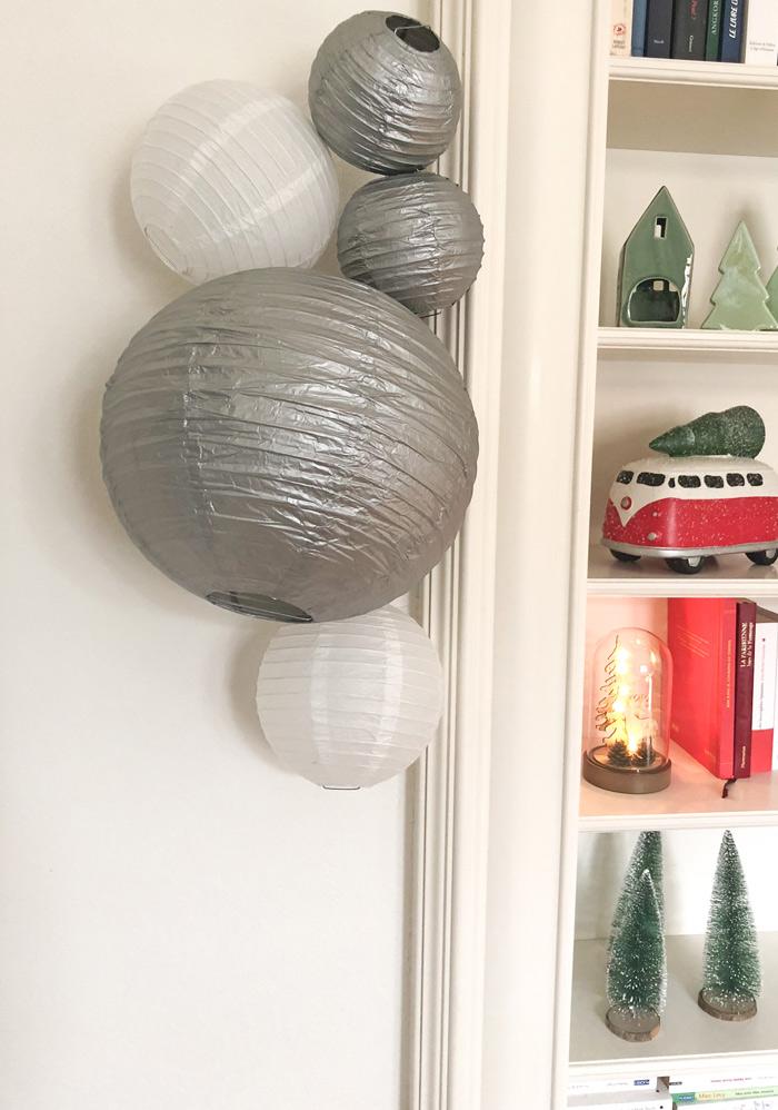 Noël tradition inspirations 2018 avec nos lanternes et boules en papier