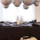 Une table de noël argentée