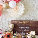 Une décoration de buffet de mariage