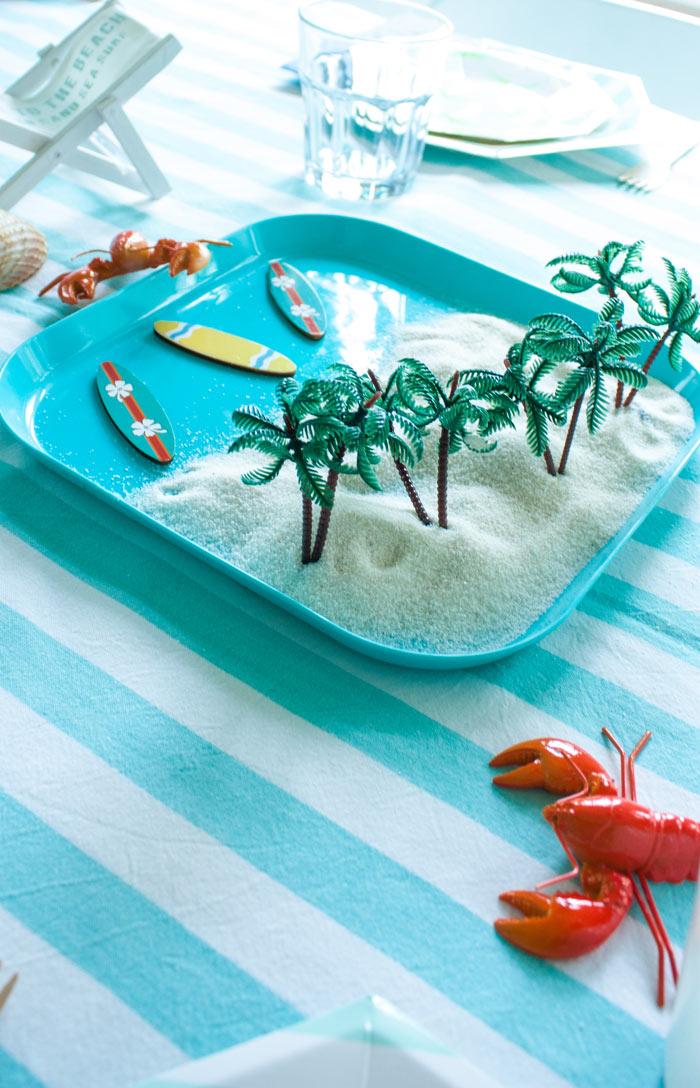 anniversaire plage et surf : décoration anniversaire thème mer
