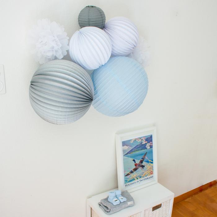 Decoration murale bleue pour une chambre d'enfant