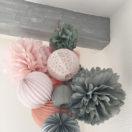 Chambre grise et rose: idée déco petit prix et jolie