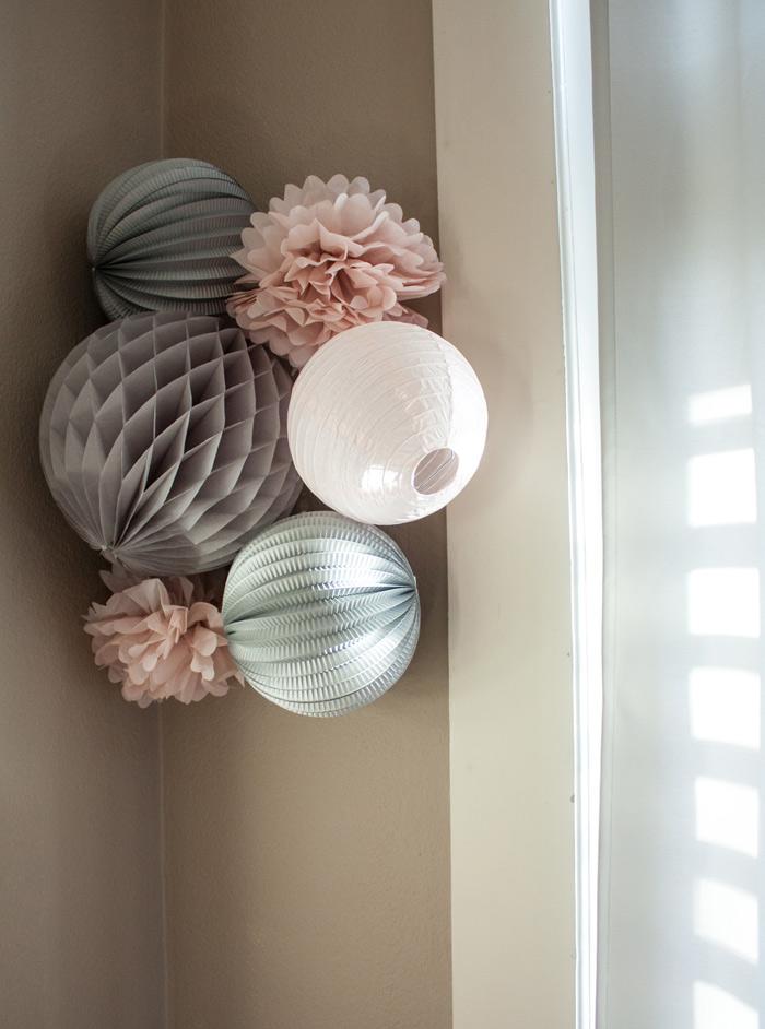 Chambre bébé rose et grise